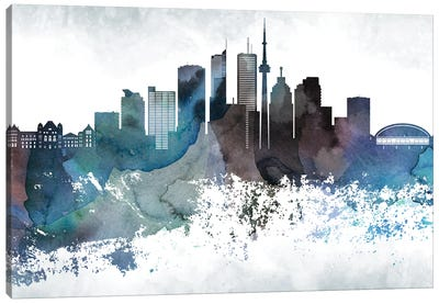 Toronto Bluish Skylines Canvas Art Print