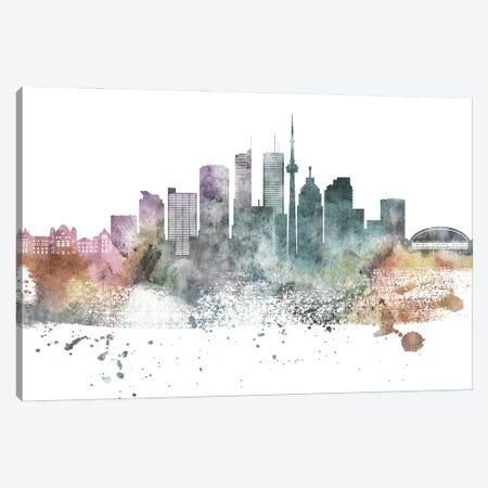 Toronto Pastel Skylines Canvas Print #WDA482} by WallDecorAddict Art Print