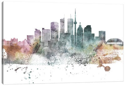 Toronto Pastel Skylines Canvas Art Print
