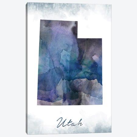 Utah State Bluish Canvas Print #WDA486} by WallDecorAddict Canvas Artwork