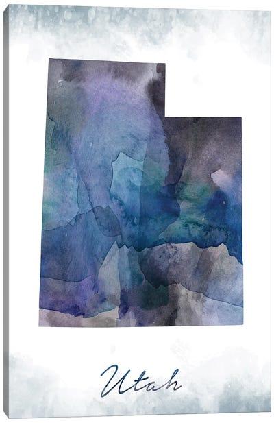 Utah State Bluish Canvas Art Print