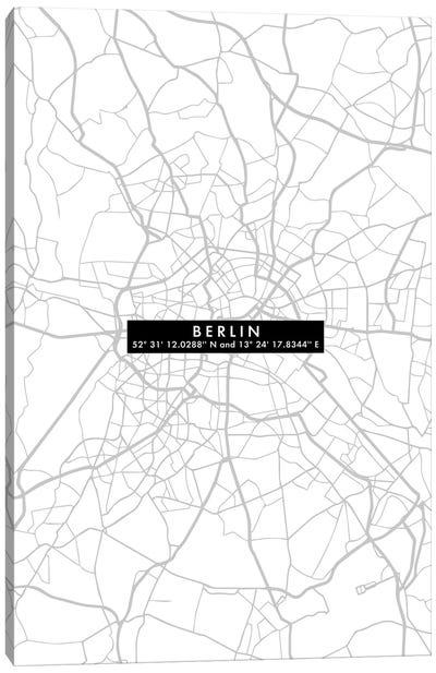 Berlin City Map Minimal Canvas Art Print