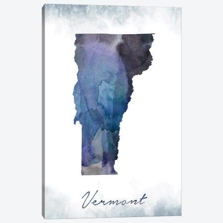 Vermont State Bluish Canvas Print #WDA491} by WallDecorAddict Canvas Wall Art