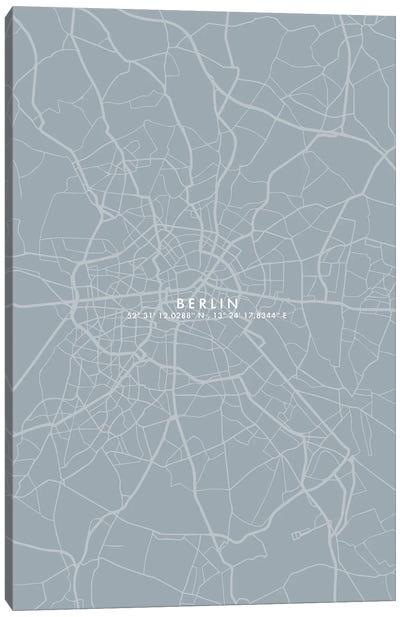 Berlin City Map Simplecolor Canvas Art Print