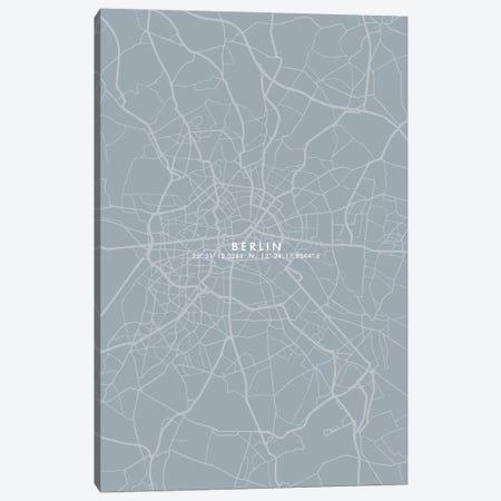 Berlin City Map Simplecolor Canvas Print #WDA49} by WallDecorAddict Art Print