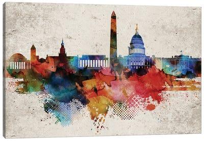 Washington Abstract Canvas Art Print