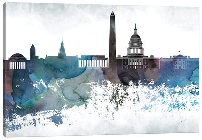 Washington Bluish Skylines Canvas Art Print