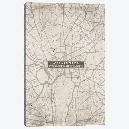 Washington City Map Abstract Canvas Print #WDA505} by WallDecorAddict Canvas Art Print