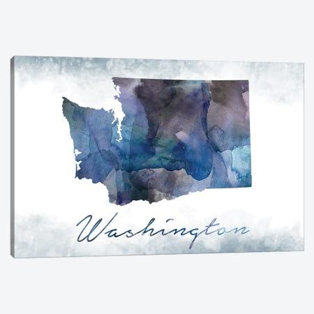 Washington State Bluish Canvas Print #WDA509} by WallDecorAddict Canvas Art