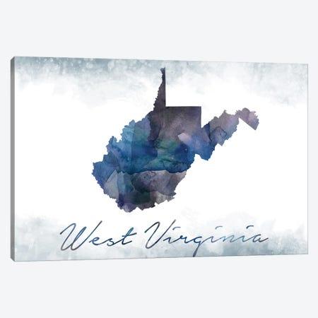 West Virginia State Bluish Canvas Print #WDA515} by WallDecorAddict Canvas Art