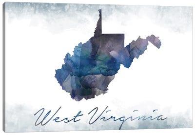 West Virginia State Bluish Canvas Art Print