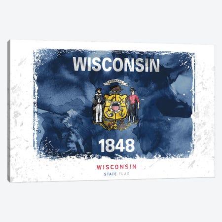 Wisconsin 3-Piece Canvas #WDA518} by WallDecorAddict Canvas Print