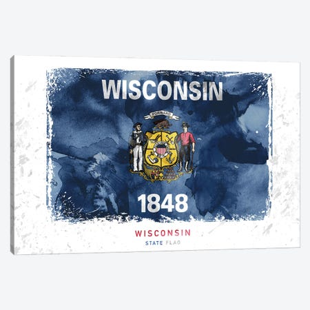 Wisconsin Canvas Print #WDA518} by WallDecorAddict Canvas Print