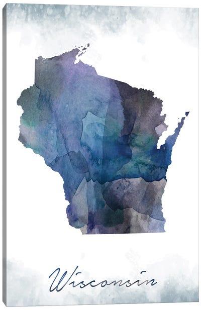 Wisconsin State Bluish Canvas Art Print
