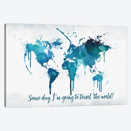 World Map Travel The World Canvas Print #WDA528} by WallDecorAddict Canvas Art