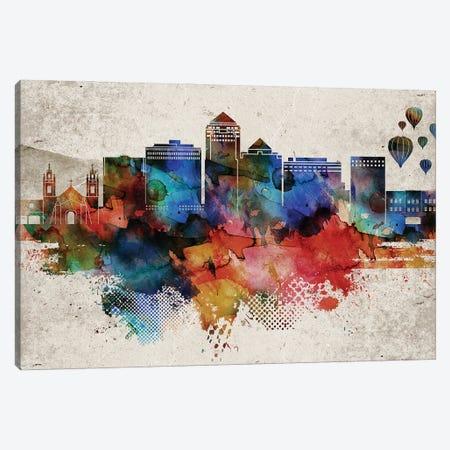 Albuquerque Abstract Canvas Print #WDA534} by WallDecorAddict Canvas Art