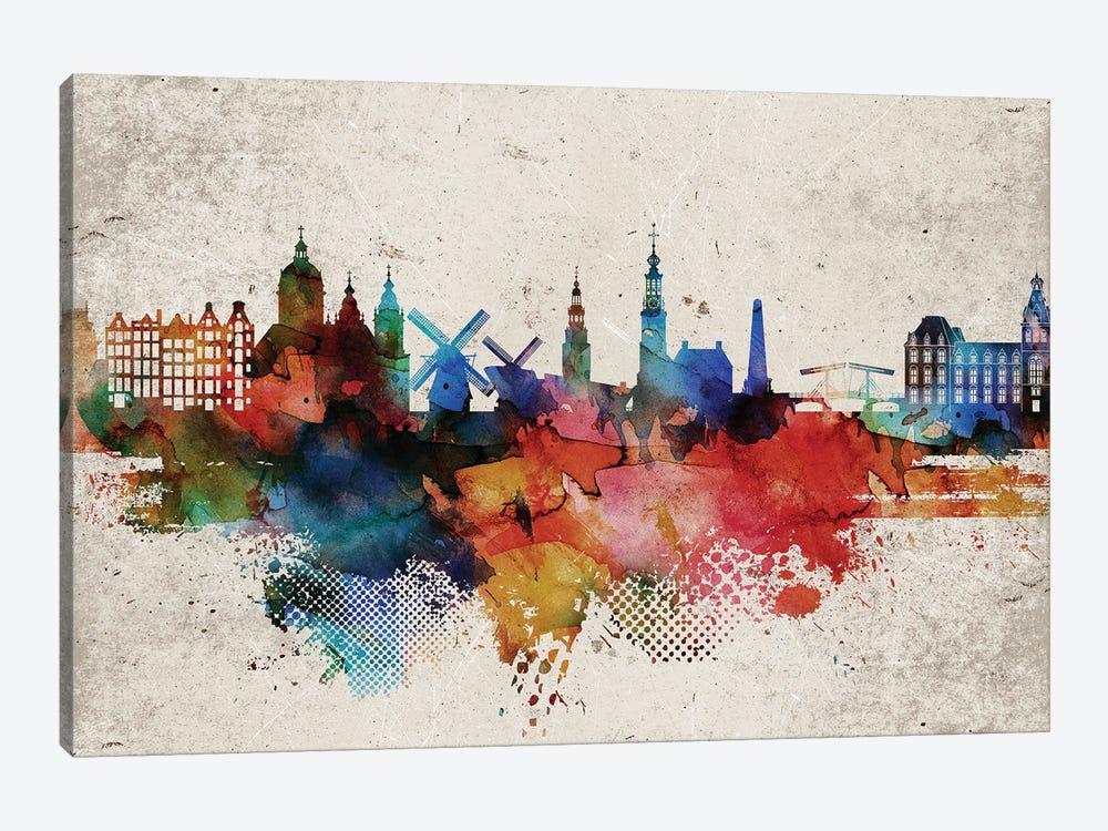 Amsterdam Abstract by WallDecorAddict 1-piece Art Print