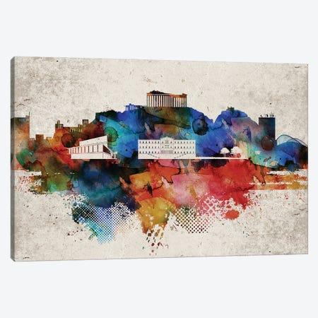 Athens Abstract Canvas Print #WDA537} by WallDecorAddict Canvas Artwork