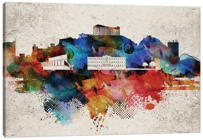 Athens Abstract Canvas Art Print