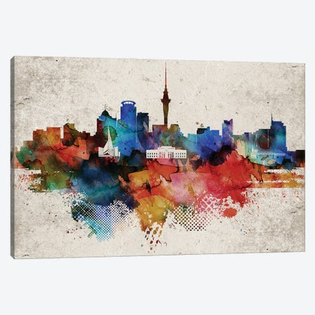 Auckland Abstract Canvas Print #WDA539} by WallDecorAddict Canvas Print