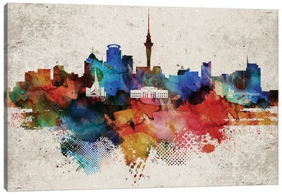 Auckland Abstract Canvas Art Print