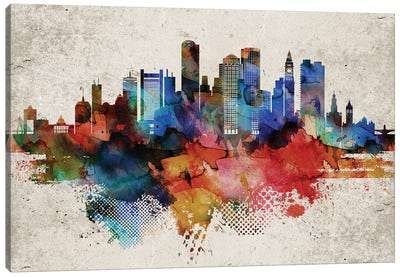 Boston Abstract Canvas Art Print