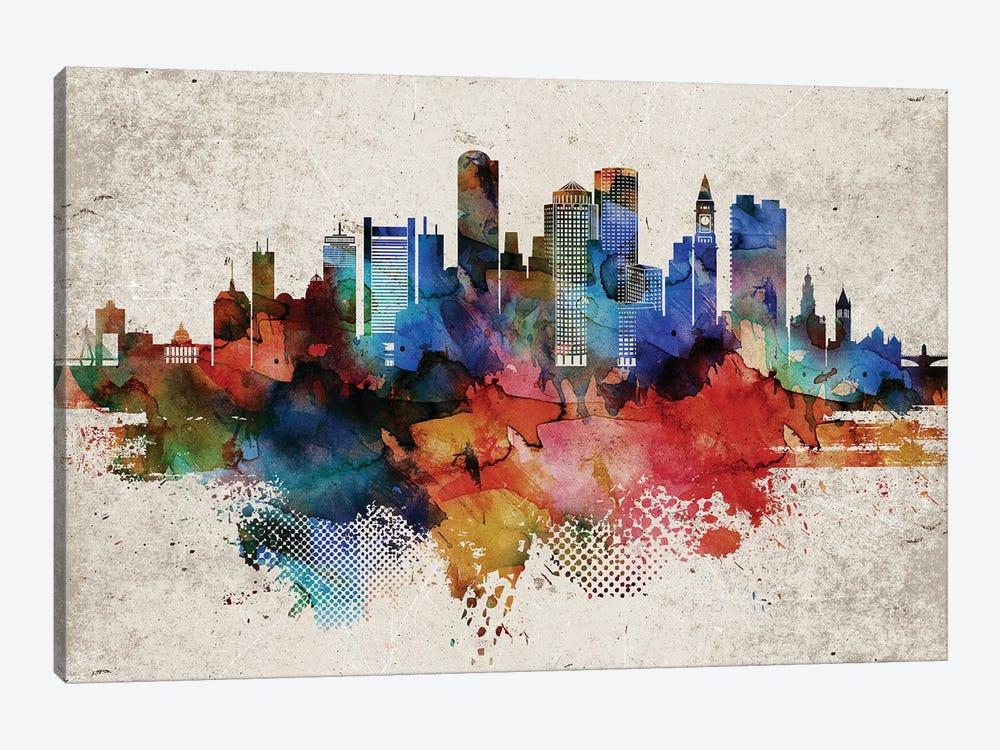 Boston Abstract by WallDecorAddict 1-piece Art Print