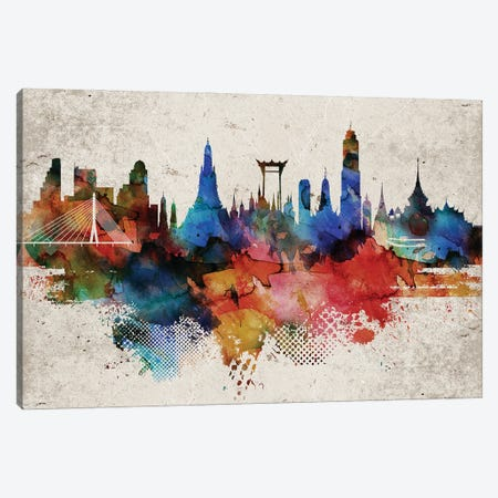 Bangkok Abstract Canvas Print #WDA540} by WallDecorAddict Canvas Wall Art