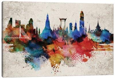 Bangkok Abstract Canvas Art Print