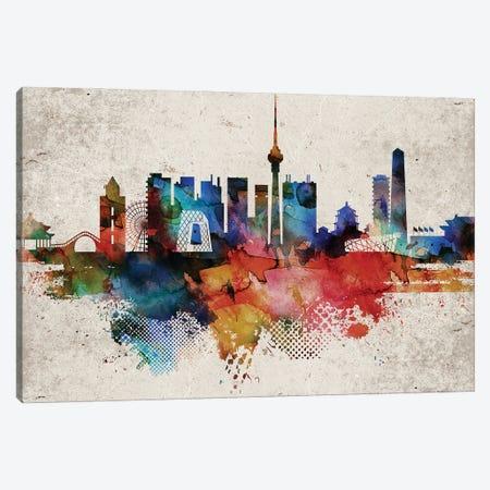 Beijing Abstract Canvas Print #WDA542} by WallDecorAddict Canvas Artwork
