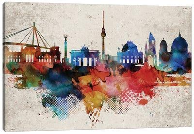 Berlin Colorful Canvas Art Print