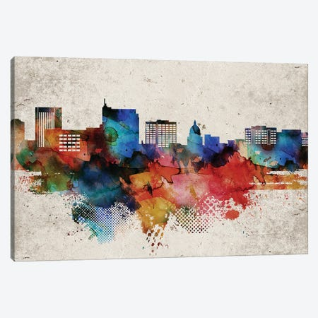 Boise Abstract Canvas Print #WDA545} by WallDecorAddict Canvas Art Print