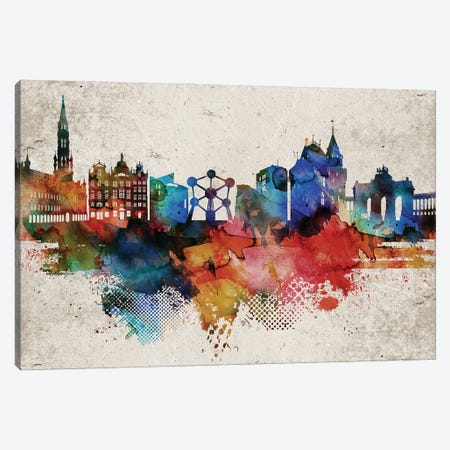 Brussels Abstract Canvas Print #WDA546} by WallDecorAddict Canvas Art Print