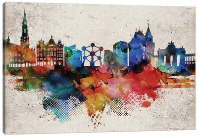 Brussels Abstract Canvas Art Print