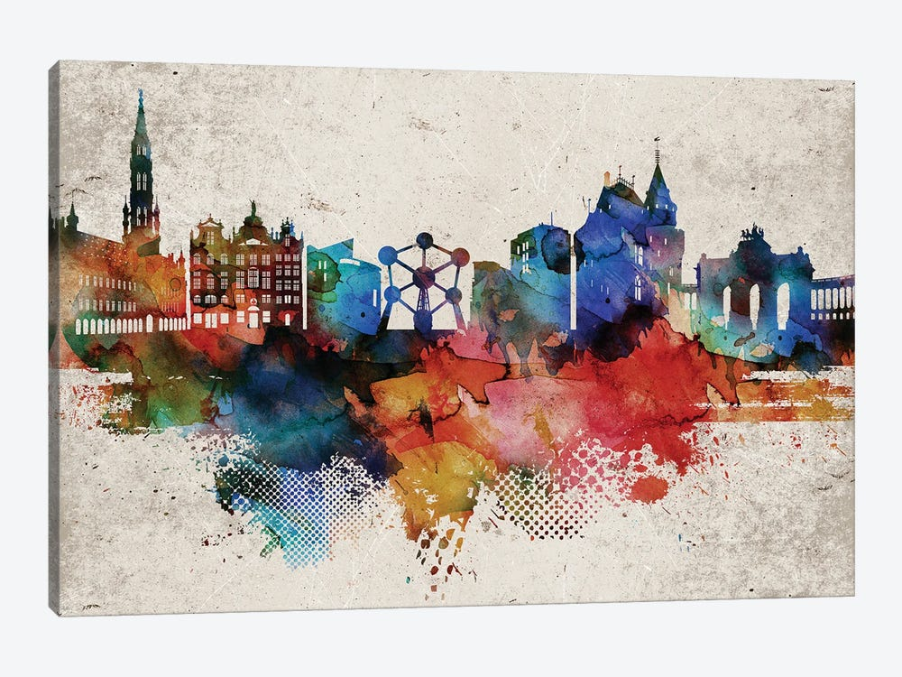 Brussels Abstract by WallDecorAddict 1-piece Canvas Art Print