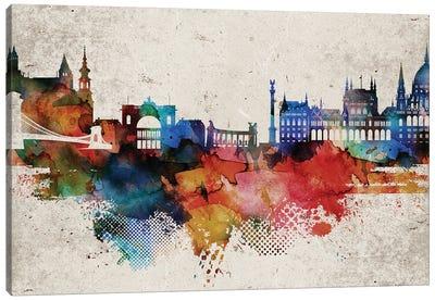 Budapest Abstract Canvas Art Print
