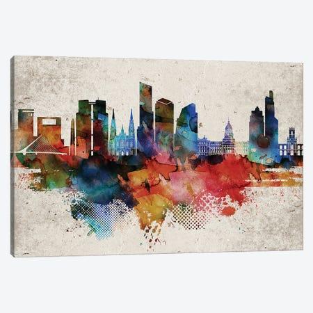 Buenos Aires Abstract Canvas Print #WDA548} by WallDecorAddict Canvas Art
