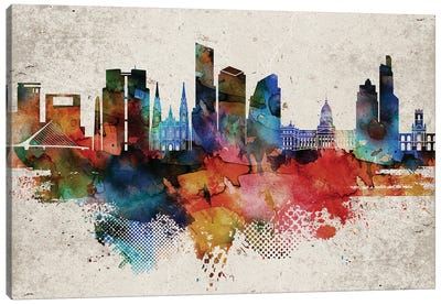 Buenos Aires Abstract Canvas Art Print