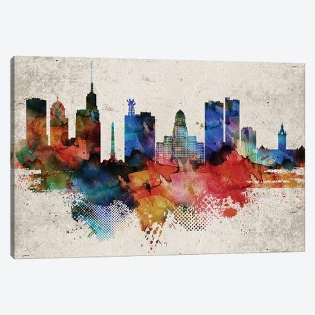 Buffalo Abstract Canvas Print #WDA549} by WallDecorAddict Canvas Wall Art