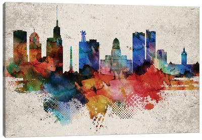 Buffalo Abstract Canvas Art Print