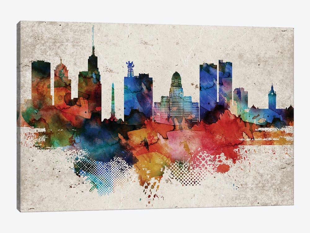 Buffalo Abstract by WallDecorAddict 1-piece Canvas Art