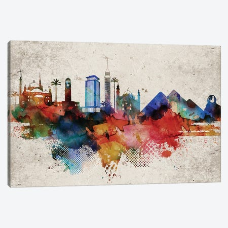 Cairo Abstract Canvas Print #WDA550} by WallDecorAddict Canvas Art Print