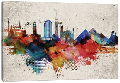 Cairo Abstract Canvas Art Print