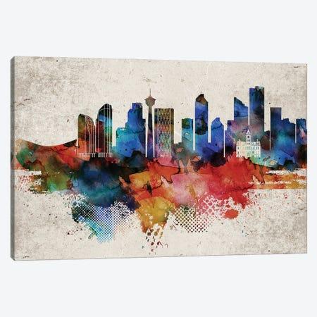 Calgary Abstract Canvas Print #WDA551} by WallDecorAddict Canvas Print