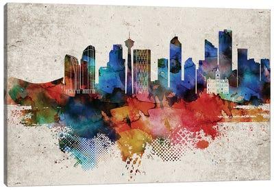 Calgary Abstract Canvas Art Print