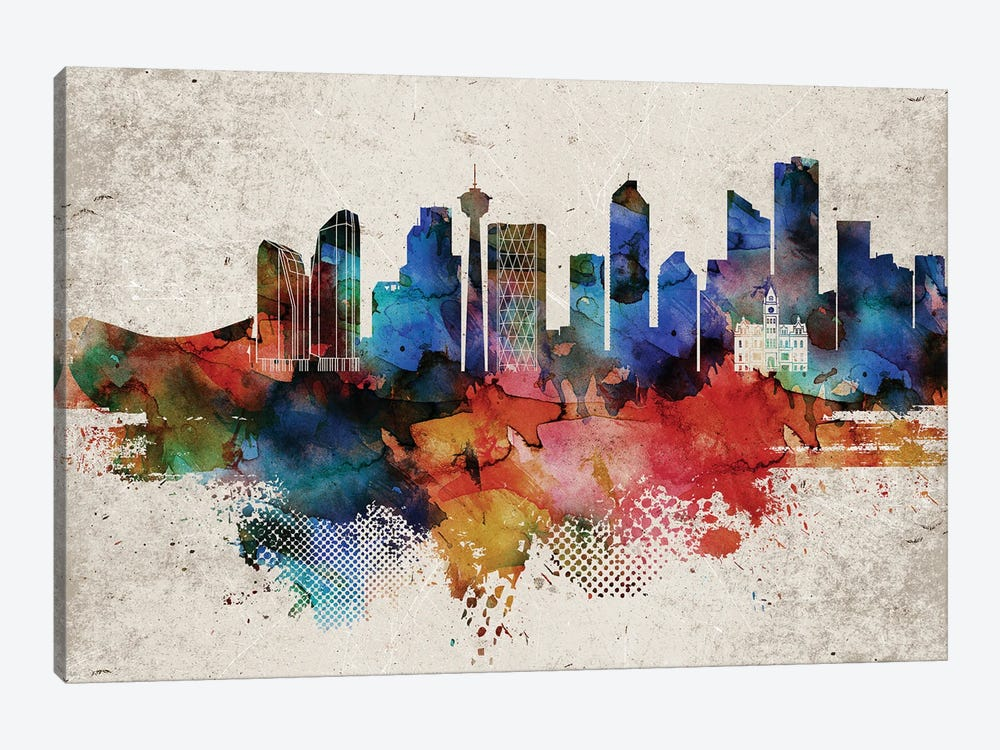 Calgary Abstract by WallDecorAddict 1-piece Art Print