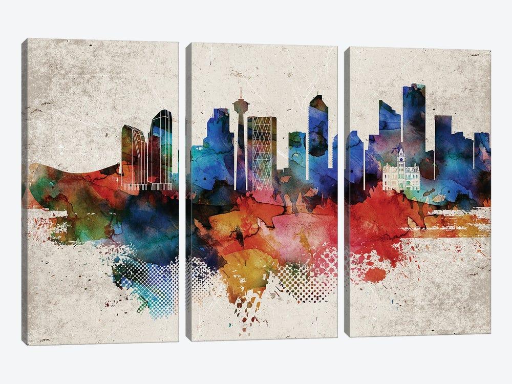 Calgary Abstract by WallDecorAddict 3-piece Canvas Art Print