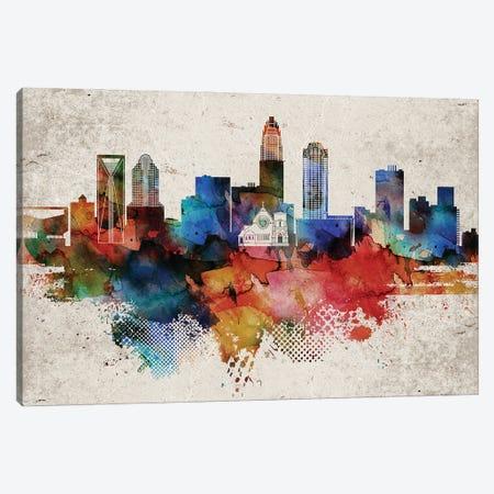 Charlotte Abstract Canvas Print #WDA553} by WallDecorAddict Canvas Print