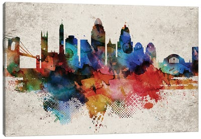 Cincinnati Abstract Canvas Art Print