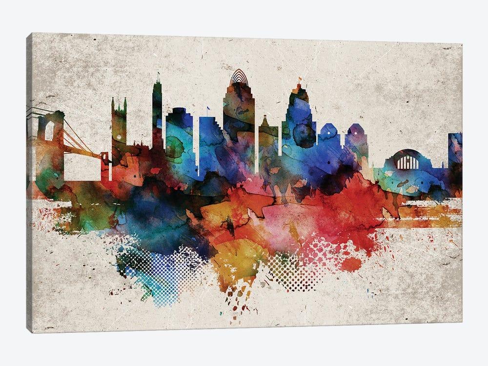Cincinnati Abstract by WallDecorAddict 1-piece Canvas Art